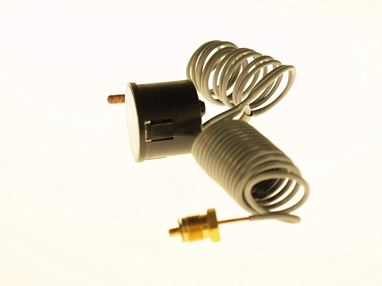 40 mm Kapillarl/änge 1500 mm Temperatur Manometer 3040 THERMIS Rundes Kapillarthermomanometer 0-120/°C 0-4 bar