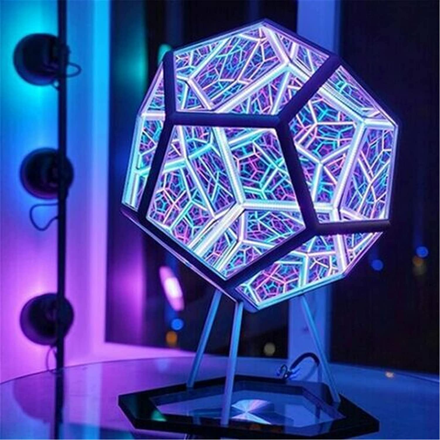 Infinite Dodecahedron Color famous El Paso Mall Art Decoration Furniture Table Light