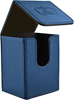 Ultimate Guard 80 Card Flip Deck Case Leather, Dark Blue