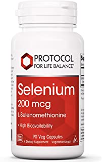 Protocol For Life Balance - Selenium 200 mcg - Essential Trace Mineral to Support Actions of Glutathione and Vitamin E to ...