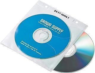 サンワサプライ DVD・CD不織布ケース(リング穴付・ホワイト) 100枚 FCD-FR100WN