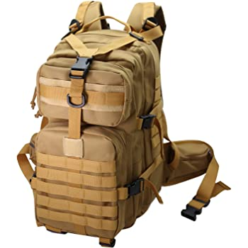 Tactical Backpack for Men Black Military Army School Bookbag for Hiking Fishing Travel Survival Small Molle Bag