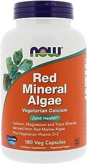 NOW Foods - Red Mineral Algae Vegetarian Calcium - 180 Vegetarian Capsules (3 pack)
