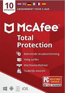 McAfee Total Protection 2021  10 apparaten  1 jaar   antivirussoftware, internetbeveiliging, wachtwoordbeheer, Mobile Secu...