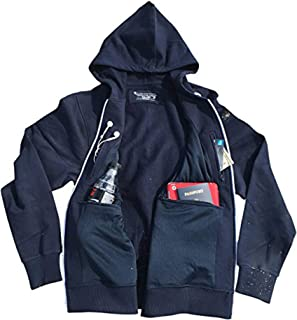 Unisex Travel Hoodie with 4 Secret Hidden Pockets, Smart Jacket for 100% Pickpocket and Loss Proof Holiday Tour