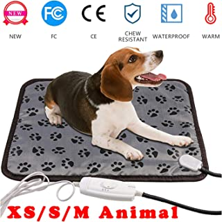 wangstar 2019 Pet Heat Pad Mat 20''x15''Indoors Warm Electric Heating Pad for Puppy Small Dogs Cats Waterproof Chew Resistant Temperature Adjustable