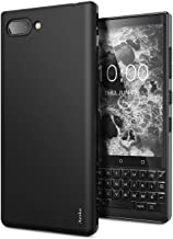 BlackBerry KEY2 Case, Aeska Ultra [Slim Thin] Flexible TPU Soft Skin Silicone Protective Case Cover for BlackBerry KEY2 (Black)