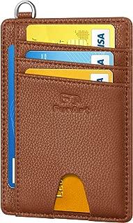 Slim Minimalist Wallet, Front Pocket Wallets, RFID Blocking, Credit Card Holder with Disassembly D-Shackle