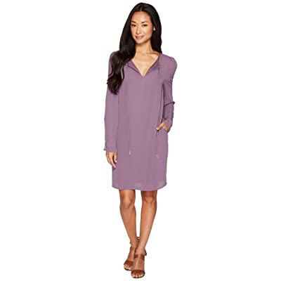 B Collection by Bobeau Amada Long Sleeve Woven Dress (Flint) Women