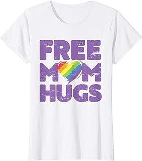 Womens Free Mom Hugs Tshirt, Free Mom Hugs Rainbow Gay Pride Tshirt