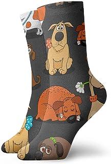 N\A, Niños Niñas Crazy Funny Cute Bulldog Corgi y Pet Dogs Calcetines de vestir novedosos lindos