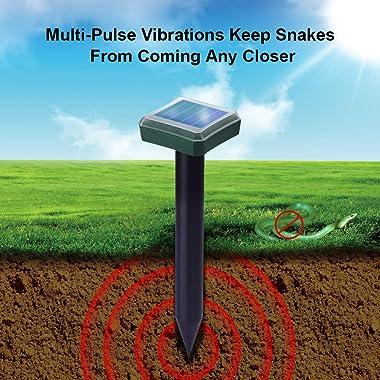 AFFONO Solar Snake Repellent for Outdoors,Snake Away Repellent for Outdoors,Snake Repellant for Yard Pet Safe,Snake Repeller