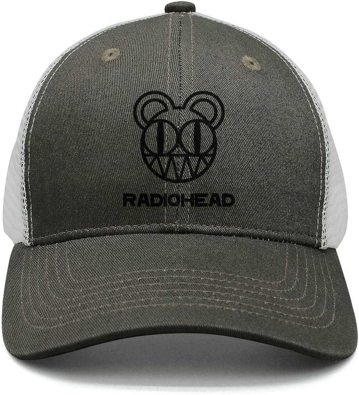 Mens Womens Caps LONGERDAY Unisex Hip-Hop Cap Radiohead-Logo-Classical