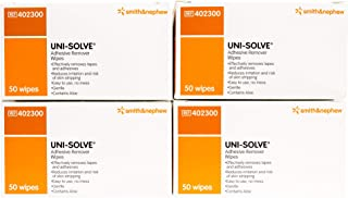UNI-SOLVE ADHESIVE REMOV WIPES 50 count 4pack