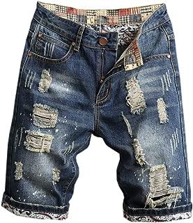 Men's Ripped Denim Shorts & Jeans
