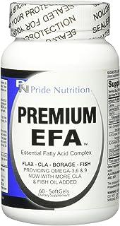 #1 Fish Oil Omega 3 6 9 EFA with EPA DHA CLA GLA Flax & Borage- More Than Just Fish Oil- Premium EFA 60 Pills- Essential F...