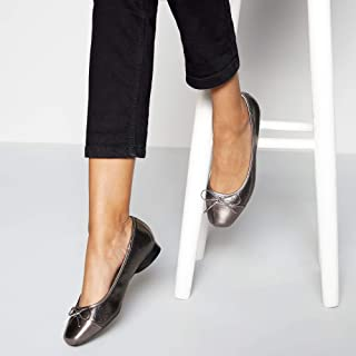 21c837a6e709 Good for the Sole Womens Silver 'Gliterrati' Wide Fit Ballet Pumps