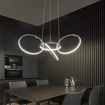 ZMH Moderne LED Esstisch Pendelleuchte 10W 10K Led 10-Ringe