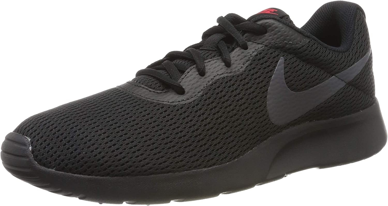 Nike Men's Tanjun Running shoes, Multicolour (Black Dark Grey Red Orbit White 015), 6 UK