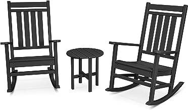 POLYWOOD Rocker Rocking Chair Set, Black