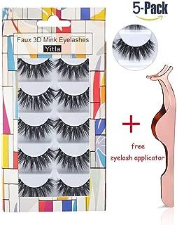 Professional (5 pairs) Faux 3D Mink Eyelashes Thick Long Multilayer Fluffy False Eyelashes With Free Precision Eyelashes Clip