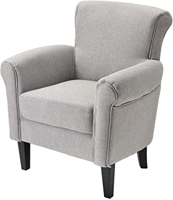 Amazon.com: Serta Mason Tufted Armchair with Brass Nailheads ...