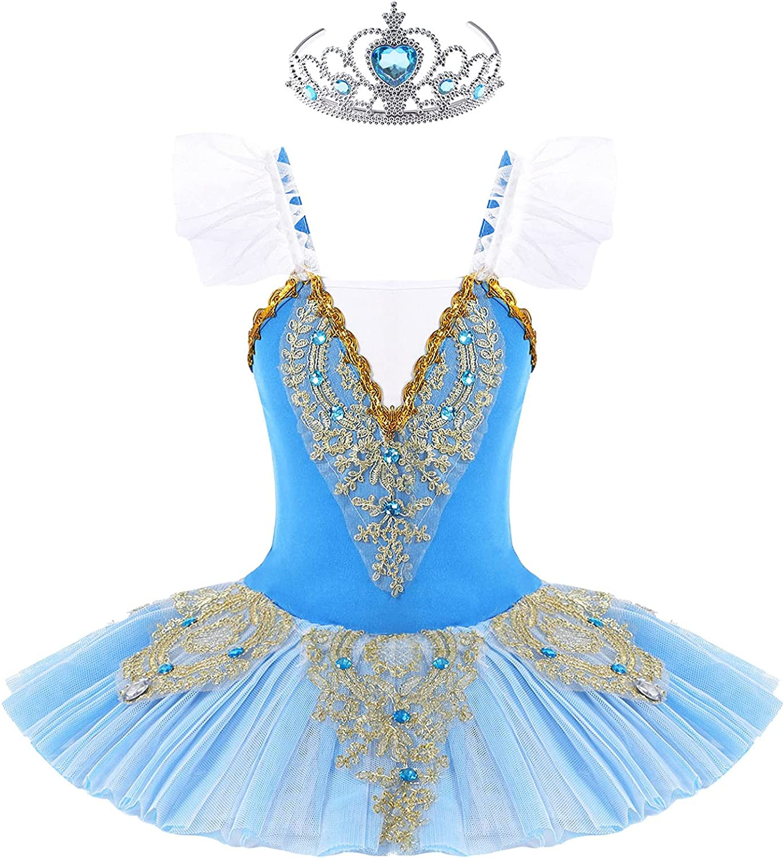 Loloda Girls Ballet Dance Los Angeles Mall Dress Sparkle Swan Prin Lake Tutu Lace Over item handling ☆