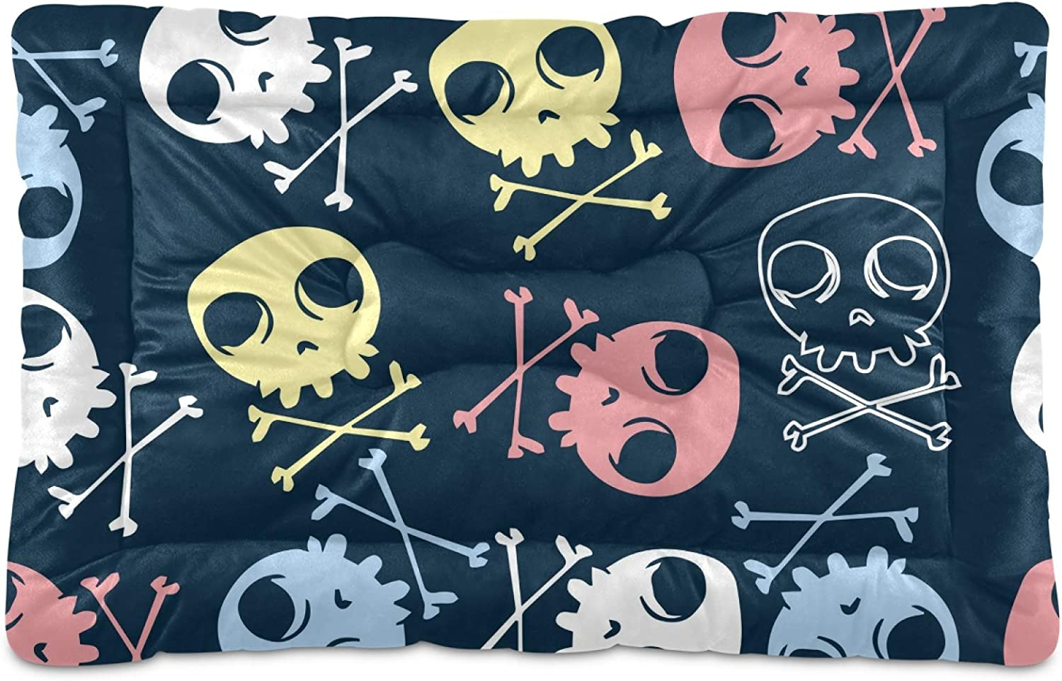 Dog Max 65% OFF Bed Mat Skull Crate Washable Tampa Mall Large Medi for Mattress