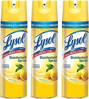 Lysol Disinfectant Spray, Lemon Breeze, 19 Ounce (Pack of 3)