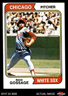 1974 Topps # 542 Goose Gossage Chicago White Sox (Baseball Card) Dean's Cards 6 - EX/MT White Sox