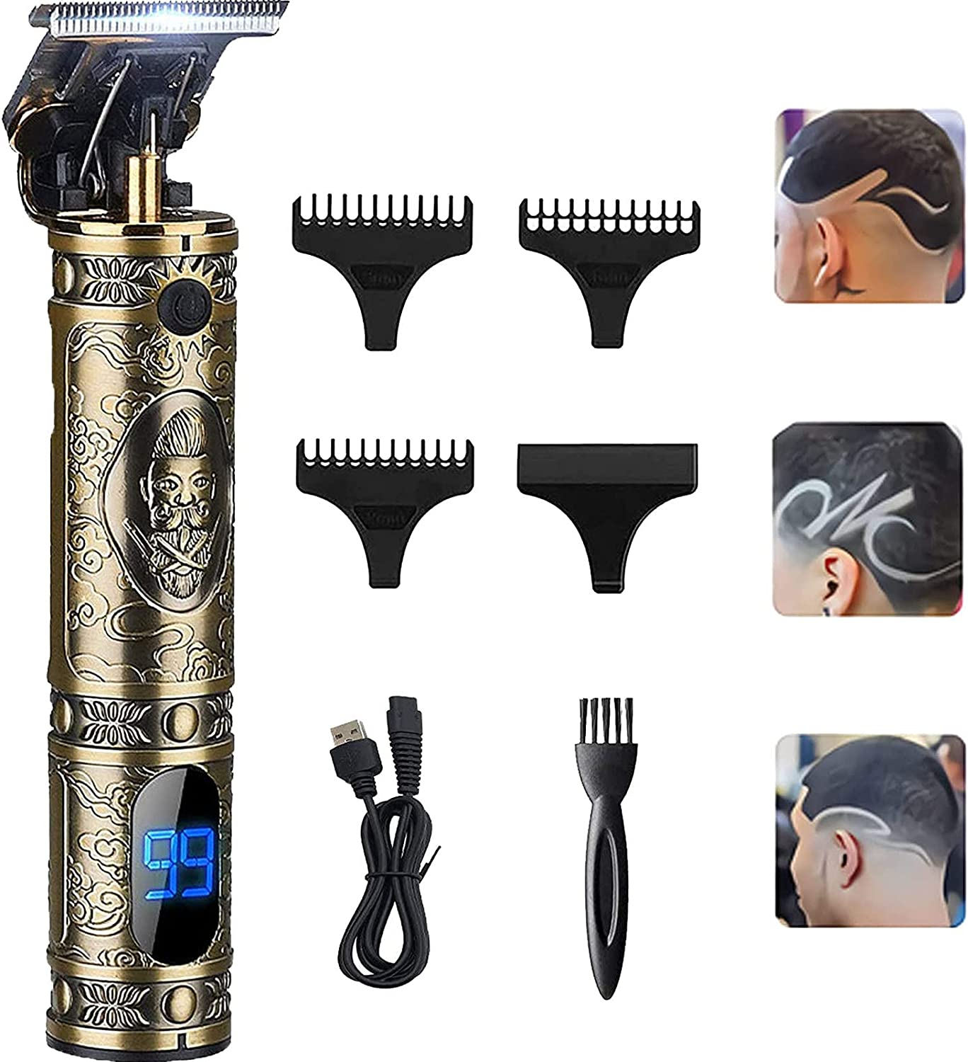 Cordless Daily bargain sale Pro T Outliner Clippers Trimmers NATURALI Gapped High quality new Zero