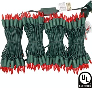 YULETIME UL Certified Red LED Christmas String Lights, 66 Feet 200 LED Commercial Grade Christmas Light Set, Connectable Home Decor Lights for Patio Garden Wedding Holiday Halloween (Red)
