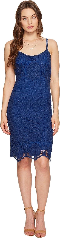 BB Dakota by Steve Madden Women's Cassia Scallop Lace Shift Dress, Indigo, X-Small
