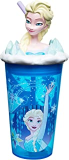 Zak Designs 15oz Frozen Girl Funtastic Tumbler With Straw And Unique 3D Character On Lid - Sculpted Design Stands Out, Screw-on Lid With Durable Straw Keeps Liquids In, Frozen Girl
