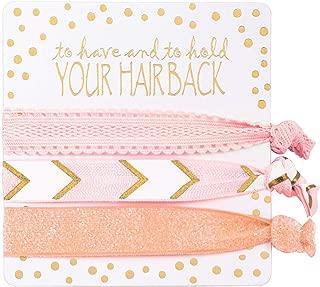Bridesmaid Gifts Bridesmaid Hair Ties(6 x 3pc Set, Pink)