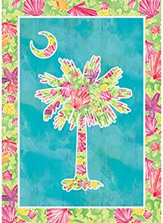 Custom Decor Palmetto Bright - Standard Size, Decorative Double Sided, Licensed and Copyrighted Flag - Printed in USA Inc. 28 Inch X 40 Inch Approx.