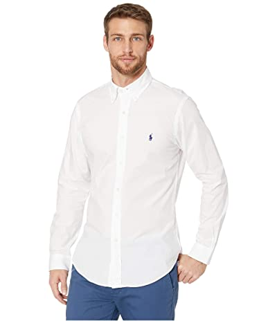 Polo Ralph Lauren Slim Fit Poplin Stretch Sports Shirt (White) Men