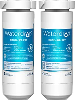 Waterdrop XWF NSF Certified Refrigerator Water Filter, Replacement for GE XWF (WR17X30702), Applicable to models starting ...
