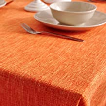 Fluid systems Tablecloths,Desktop homeowner tablecloth Simple Multi-purpose Home Dinner Party Decoration Soft Rectangle-Orange 140x220cm(55x87inch)