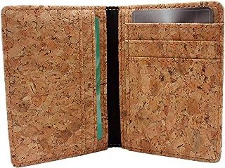 Credit Card Holder, Boshiho Vegan Cork Ultra Slim Wallet ID Card Case Unique Vegan Gift (Cork)