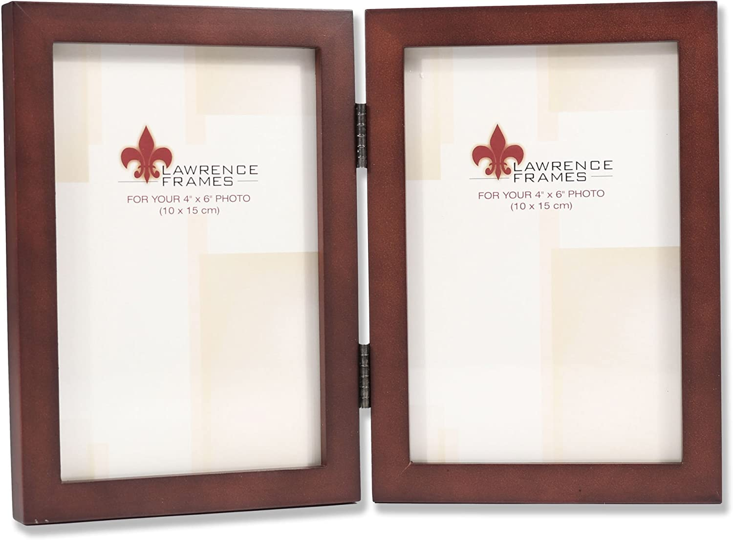 Lawrence Frames 755946D Espresso Wood Hinged Double Picture Fram