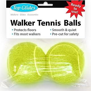 Pre-Cut Walker Glide Balls - 15 Colors & Styles (Yellow)