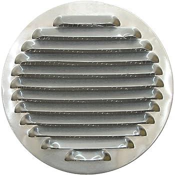 80 bis 120mm Edelstahl L/üftungsgitter Abluftgitter rund mit Flansch L/üftungsgitter-Lochabdeckung zum Halten der Luftzirkulation f/ür Badezimmer-B/üroraum 80mm