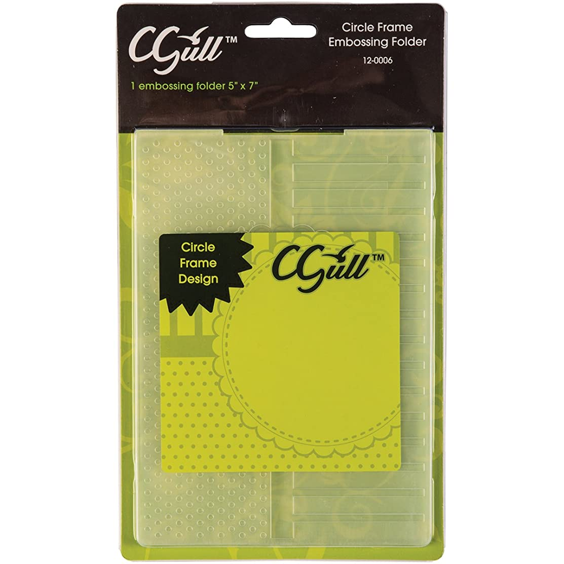 CGull 12-0006 Embossing Circle Frame Folder, 5 by 7-Inch