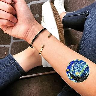 Starry Night Temporary Fake Tattoo Sticker (Set of 2) - www.ohmytat.com