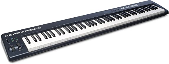 M Audio Keystation 88 II | Ultra-Portable 88 Key USB/MIDI Keyboard Controller with Synth Action Velocity Sensitive Keys Including Software from SONiVOX (Eighty Eight Ensemble) for Mac & PC