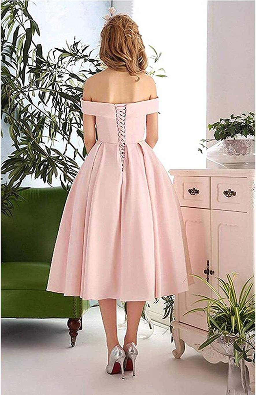 Cocktail Prom Dress Off The Shoulder Formal Dresses A Line Ruched Short Maxi Homecoming Party Gowns