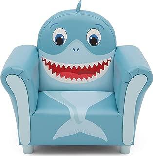 Delta Children Cozy Children's Chair - Fun Animal Character, Blue Shark