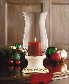 Lenox Holiday Hurricane w/Pillar Candle