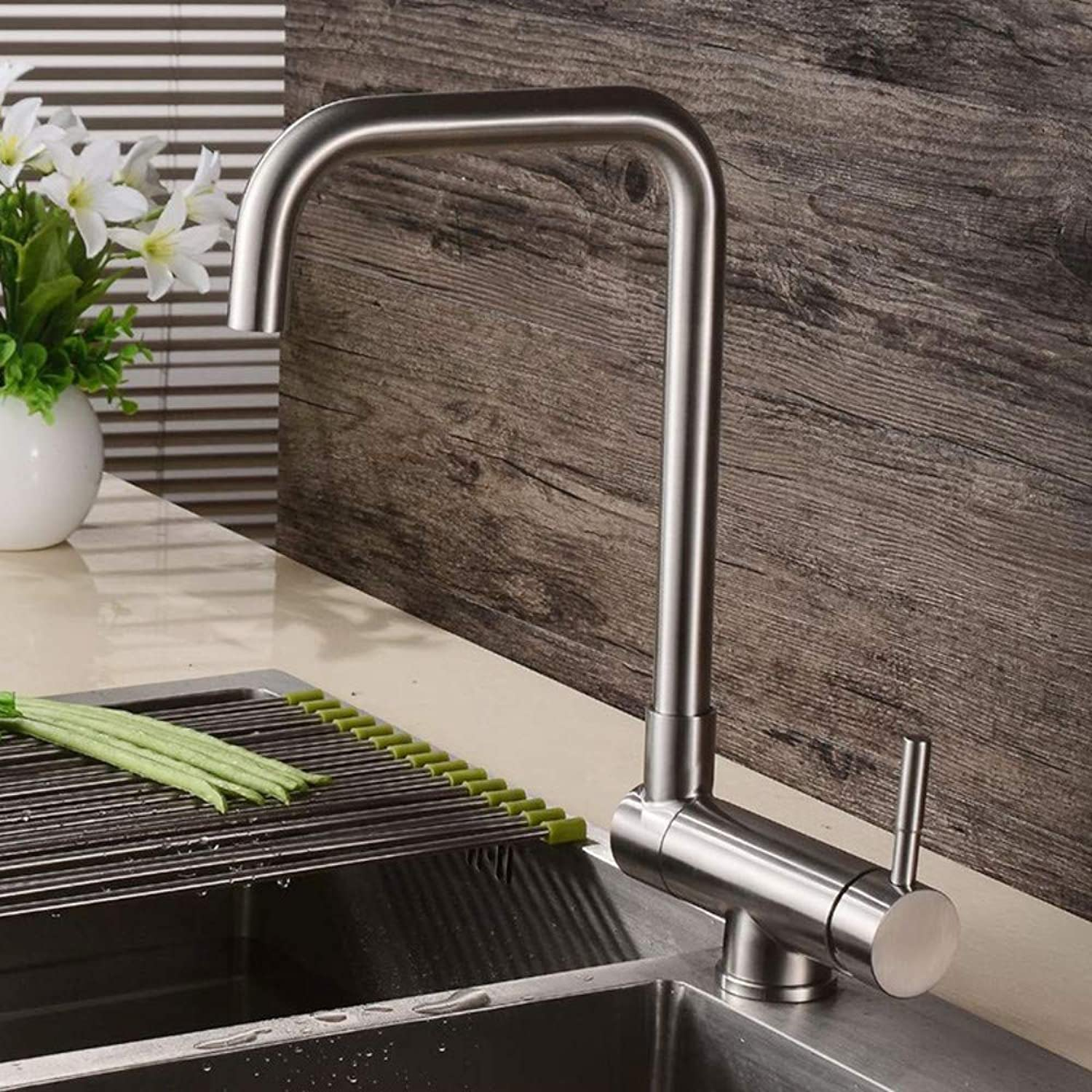 Stainless Steel Sink Faucet Kitchen redating Sink Hot and Cold Water Faucet